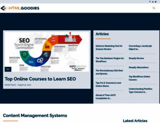 htmlgoodies.com screenshot