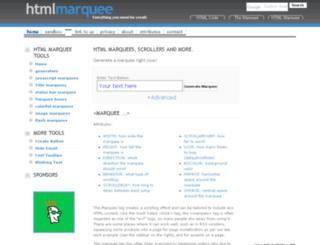 htmlmarquee.com screenshot