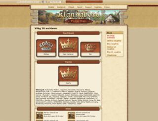 hu30.klanhaboru.hu screenshot