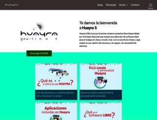 huayra.conectarigualdad.gob.ar screenshot