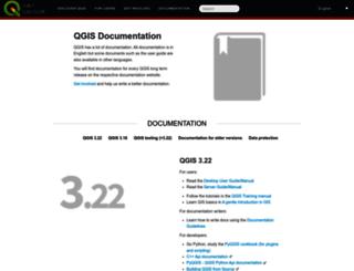 hub.qgis.org screenshot