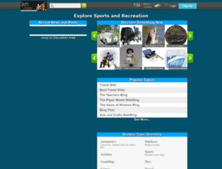 hub.sportsnrec.org screenshot