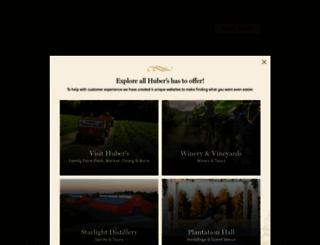 huberwinery.com screenshot