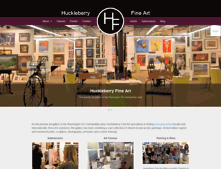 huckleberryfineart.com screenshot