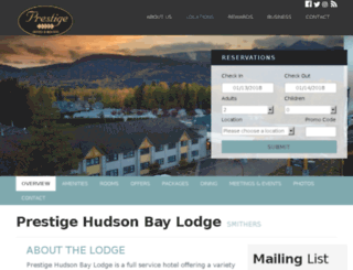 hudsonbaylodge.com screenshot