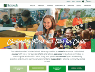 hudsonvillechristian.org screenshot