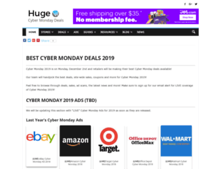 hugecybermondaydeals.com screenshot