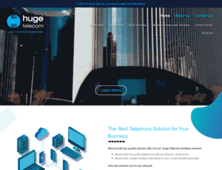 hugetelecom.co.za screenshot