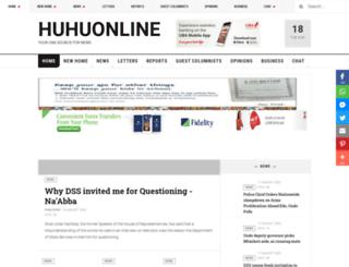 huhuonline.com screenshot