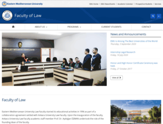 hukuk.emu.edu.tr screenshot