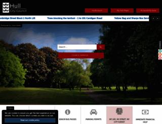 hullcc.gov.uk screenshot