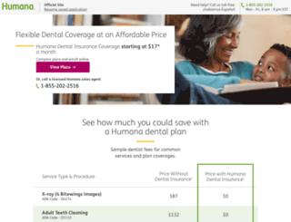 humanadental.com screenshot