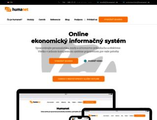 humanet.sk screenshot