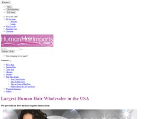 humanhairimports.com screenshot