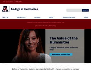 humanities.arizona.edu screenshot