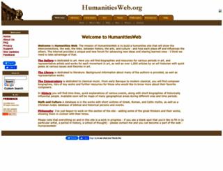 humanitiesweb.org screenshot