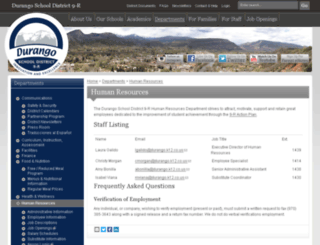 humanresources.durangoschools.org screenshot