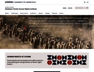 humanrights.uconn.edu screenshot