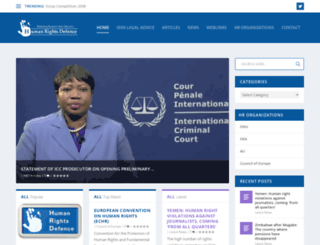humanrightsdefence.org screenshot