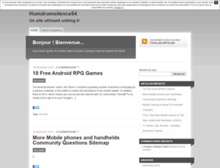 humdrumsilence54.unblog.fr screenshot