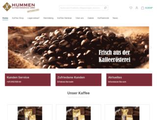hummen-kaffee.de screenshot