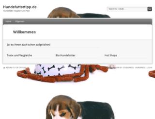 hundefuttertipp.de screenshot