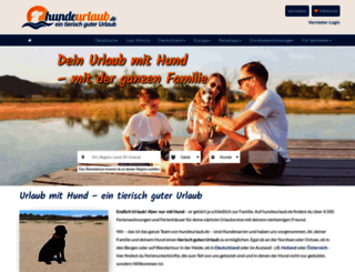 hundeurlaub.de screenshot