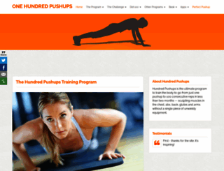 hundredpushups.com screenshot