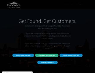 hundredsofcustomers.com screenshot