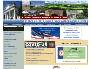 hunterdon.nj.us screenshot