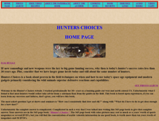 hunterschoices.com screenshot
