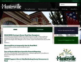 huntersville.org screenshot