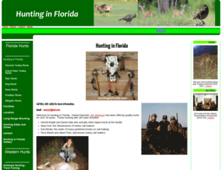 huntinginflorida.com screenshot