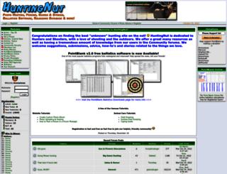 huntingnut.com screenshot