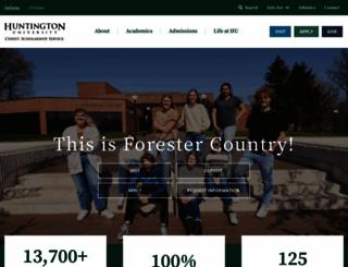huntington.edu screenshot