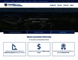 huntington.laurentian.ca screenshot