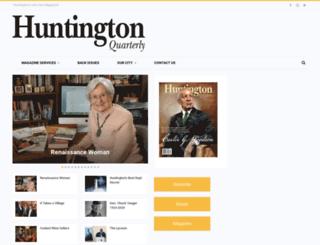 huntingtonquarterly.com screenshot