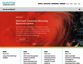 hunton.com screenshot