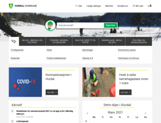 hurdal.kommune.no screenshot