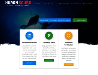 huronscuba.com screenshot