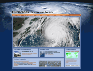 hurricanescience.org screenshot