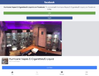 hurricanevapes.co.uk screenshot