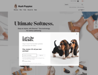 hushpuppies.ca screenshot