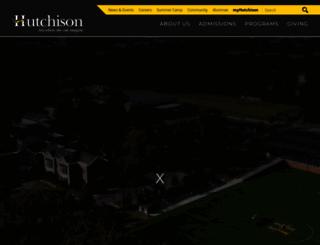 hutchisonschool.org screenshot