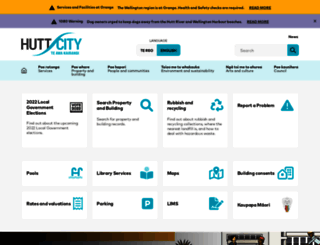 huttcity.govt.nz screenshot