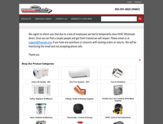 hvacwholesaledirect.com screenshot