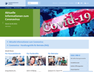 hwk-koblenz.de screenshot