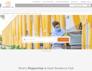 hyattresidenceclub.com screenshot