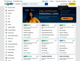 hyderabad.quikr.com screenshot