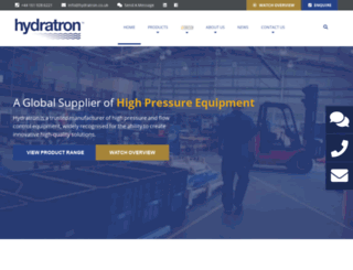 hydratron.com screenshot